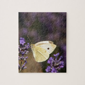 Butterfly on lavender jigsaw puzzle