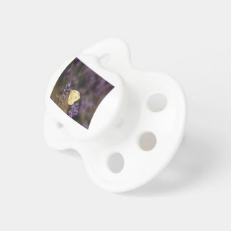 Butterfly on lavender pacifier