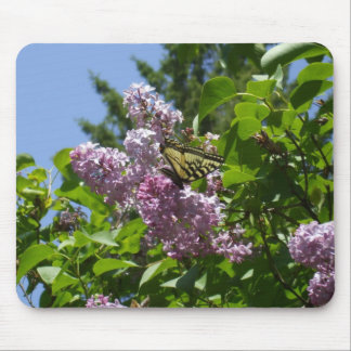Butterfly on Lilac Bush Mouse Pad