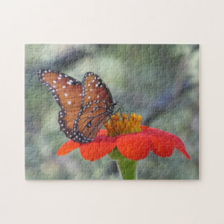 Butterfly on Mexican Sunflower Puzzle