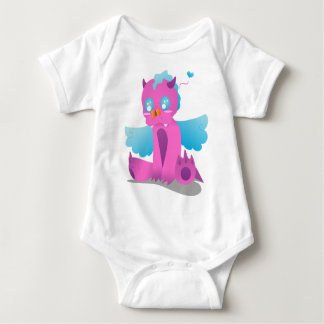 Butterfly on Nose Spiffy The Dragon Baby Bodysuit