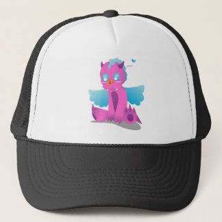 Butterfly on Nose Spiffy The Dragon Trucker Hat