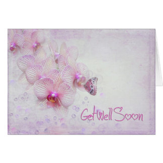 butterfly on orchid for get well card