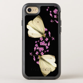 Butterfly on Pink Garden Flowers OtterBox Symmetry iPhone 7 Case