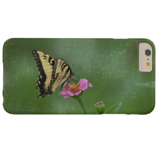 Butterfly On Pink Zinnia Barely There iPhone 6 Plus Case
