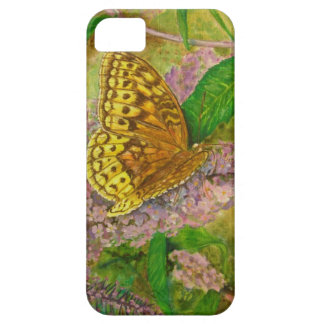 Butterfly on purple butterfly bush Buddleia david iPhone 5 Cover
