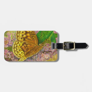 Butterfly on purple butterfly bush Buddleia david Luggage Tag