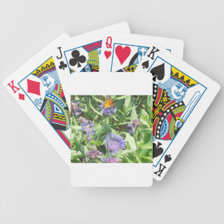 Butterfly on Purple Coneflower Bicycle Playing Cards