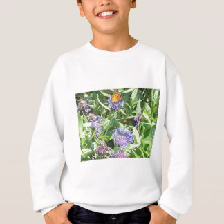 Butterfly on Purple Coneflower Sweatshirt