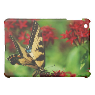 butterfly on red flower iPad mini cases