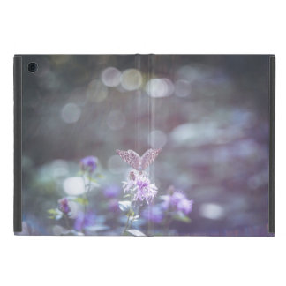 Butterfly on the wild flowers case for iPad mini