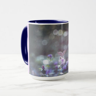 Butterfly on the wild flowers mug