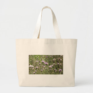 Butterfly On Thistle Large Tote Bag