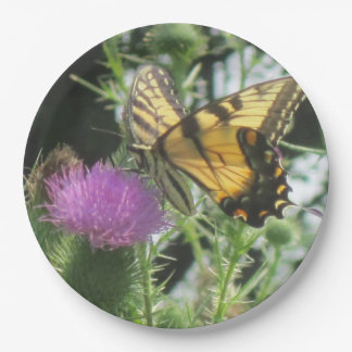 Butterfly On Thistle Paper Plate
