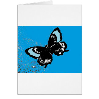 Butterfly on Turquoise Card