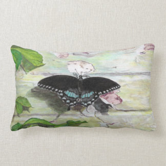 Butterfly on wall rectangle pillow