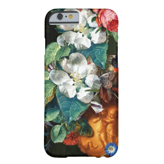 BUTTERFLY ON WHITE FLOWERS Floral Barely There iPhone 6 Case