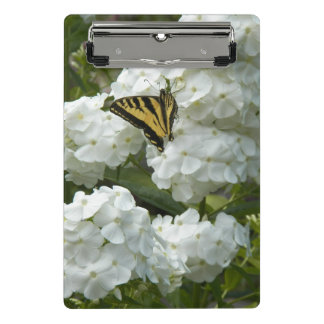 Butterfly on White Phlox Floral Mini Clipboard