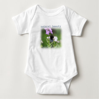 Butterfly on wildflowers baby bodysuit