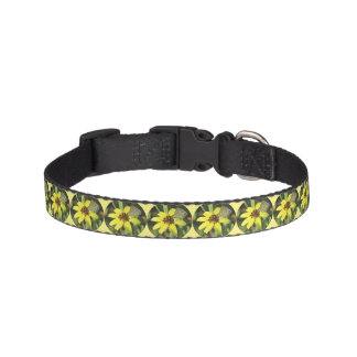 Butterfly on Yellow Flower Pet Collar