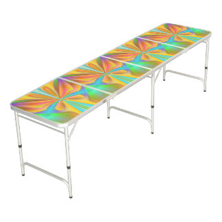 Butterfly Orange Beer Pong Table