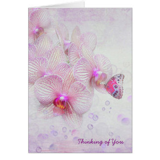 Butterfly Orchid Thinking of You Card