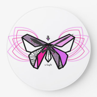Butterfly origami wallclocks