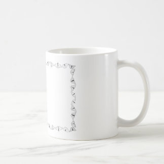 Butterfly Outline Frame with Blank Field Classic White Coffee Mug