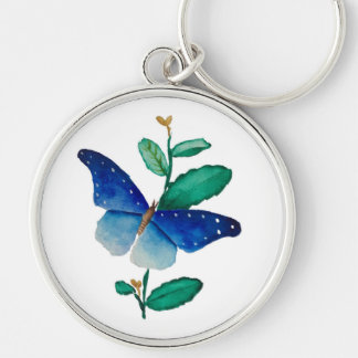 butterfly painting keychain