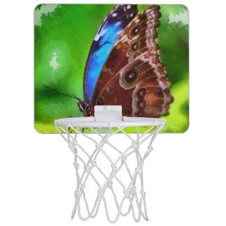 Butterfly painting mini basketball backboard