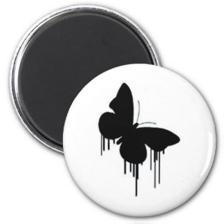 Butterfly pancakes 2 inch round magnet