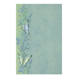 Butterfly Pastel Floral Personalized Stationery