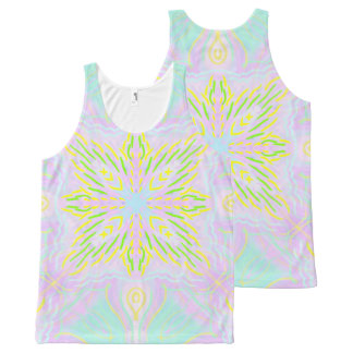 Butterfly Pastel Mandala All-Over-Print Tank Top