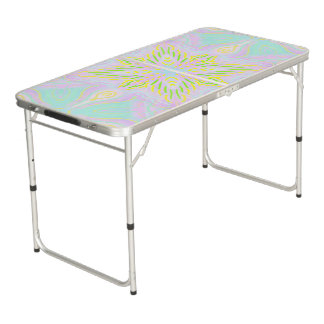 Butterfly Pastel Mandala Beer Pong Table
