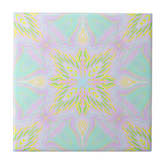 Butterfly Pastel Mandala Ceramic Tiles