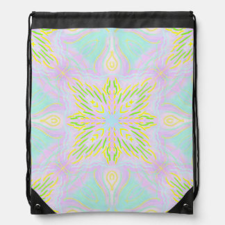 Butterfly Pastel Mandala Drawstring Bag