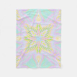 Butterfly Pastel Mandala Fleece Blanket
