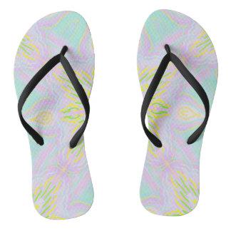 Butterfly Pastel Mandala Flip Flops