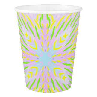 Butterfly Pastel Mandala Paper Cup