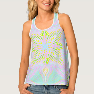 Butterfly Pastel Mandala Tank Top