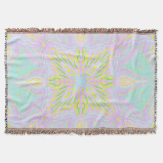 Butterfly Pastel Mandala Throw Blanket