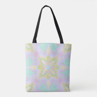 Butterfly Pastel Mandala Tote Bag