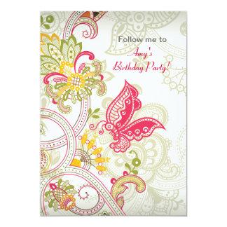 Butterfly Patch Birthday Invitation