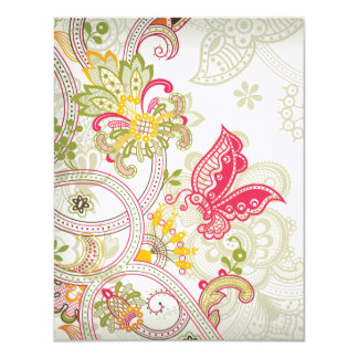 Butterfly Patch Personalized Stationery Card