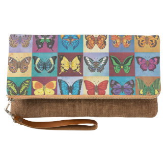 Butterfly Patchwork Clutch