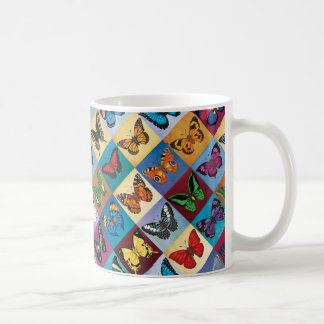 Butterfly Patchwork Coffee Mug