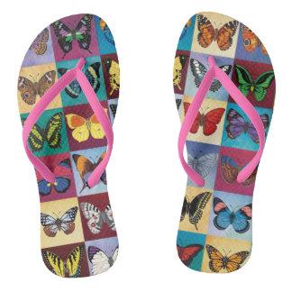 Butterfly Patchwork Flip Flops