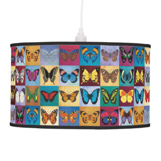 Butterfly Patchwork Pendant Lamp