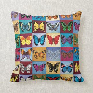 Butterfly Patchwork Throw Pillow