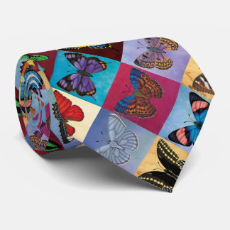 Butterfly Patchwork Tie